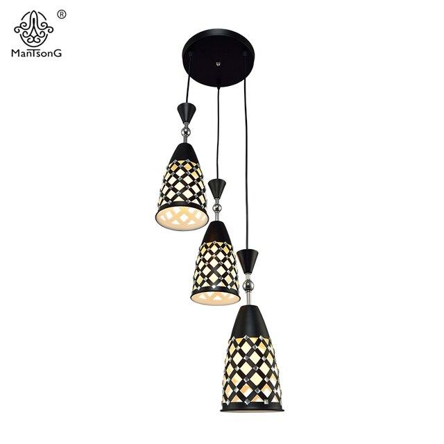 3 led lamps crystal lighting pendant hanging modern lamp for Modern living room light fixtures