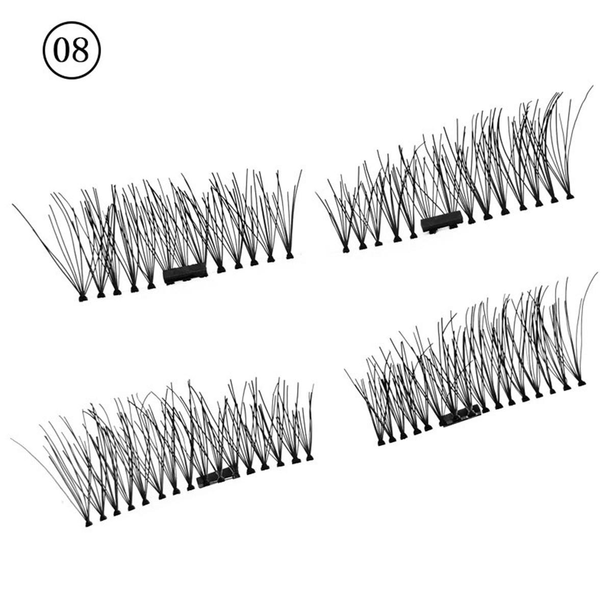 Aliexpress Buy 3d Magnet Lashes 4 Pcs Pair