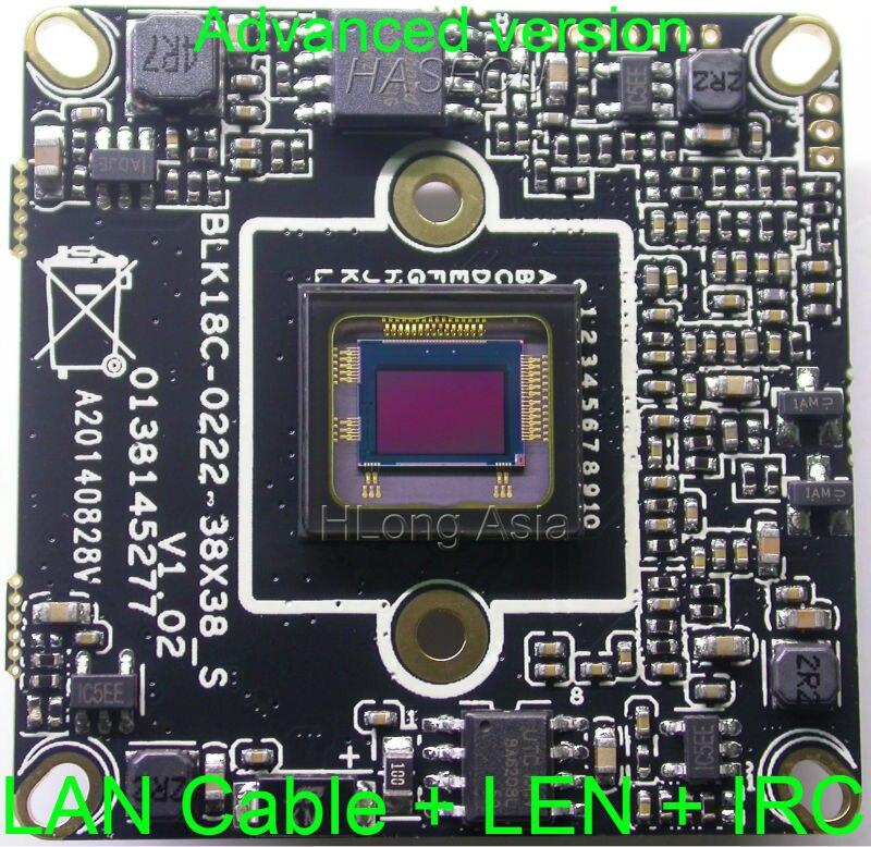 imágenes para IPC (1080 P) soporte de audio wifi sony imx322 sensor + placa pcb módulo de cámara cctv ip hi3516c con cable + 2mp len + irc