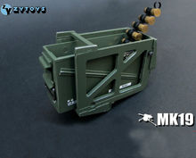 ZY TOYS 1/6 Scale Grenade Launcher US Marine Ammunition Ammo Box MK19 Model Toys For 12″ Action Figure   Accessory