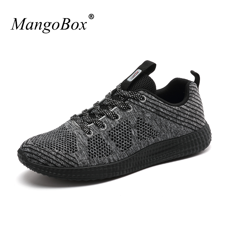 Summer Sport Shoes Man Sneakers 2018 Mesh Breathable Running Shoes Non Slip Sneakers for Men Lace Up Brand Trainers