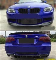 Carbon Fiber CAR FRONT LIP BUMPER + REAR TRUNK DIFFUSER SPOILER COVER FOR BMW E90 E92 E93 M3 Coupe 2008 2009 2010 2011 2012 2013