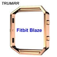 هيكل ساعة من الفولاذ المقاوم للصدأ ، هيكل معدني مصقول ، حامل بديل للساعة الذكية Fitbit Blaze ، أسود ، وردي ، ذهبي ، فضي
