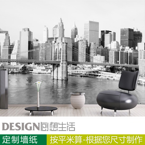 New york city black and white background 3d city wallpaper tv new york city black and white background 3d city wallpaper tv backdrop living room bedroom mural voltagebd Images