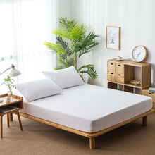 Protector Terry Cotton Twill Solid Color Decor Bed Cover Waterproof Home Mattress Breathable Sheet D30