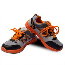 man sports running shoes comfortable Orange men New arrival Stability light breathable Air mesh shoes popular running shoes