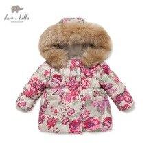 DB3025 davebella осень зима младенца пальто младенца ватник девушки мягкий верхняя одежда девушки пальто