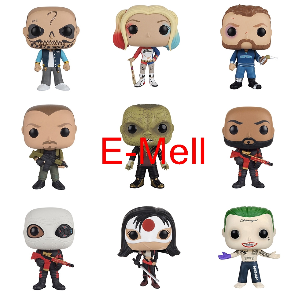 Suicide Squad Harley Quinn Tatsu Toro Deadshot  Waylon Jones Cosplay PVC Q-version Garage Kits Action Figures Model Toys аксессуары для косплея cos crystal shoes harley quinn cosplay