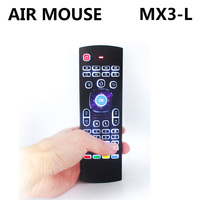 New Style MX3-L Backlight Air mouse Remote control with 2.4G RF wireless keyboard For KM8 P X96 H96 pro T95X Android TV Box
