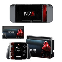 Mass Effect Andromeda Decal Vinyl Skin Protector Sticker for Nintendo Switch NS Console+Controller+Stand Holder Protective