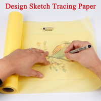 46m Colorful Sketch Tracing Paper Sketches Preliminary Translucent Craft Copying Calligraphy Drawing Technical Paper