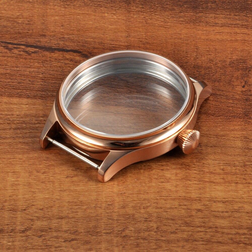 44mm Corgeut Gold Case Fit ETA 6498 6497 Hand Winding Movement GC441444mm Corgeut Gold Case Fit ETA 6498 6497 Hand Winding Movement GC4414