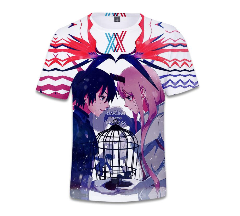 Darling In The Franxx 3D Print Cartoon Characters Unisex T-Shirt Casual Tee Tops