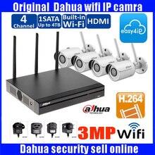 DAHUA Wifi NVR4104HS-W-S System Kit with 4pc Wireless wifi  IP Camera DH-IPC-HFW2325S-W 3MP Security Camera Kit IPC-HFW2325S-W