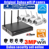 DAHUA 4ch Wifi NVR NVR4104HS W S System Kit With 4pc Wireless Camera Bullet IP Camera