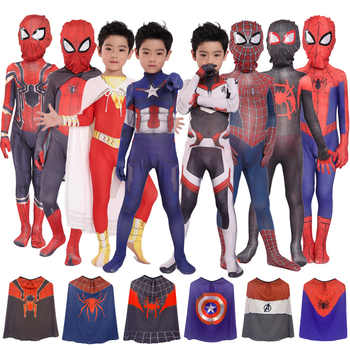 Kids Spiderman Unisex Halloween Zentai Cosplay Costume Spider Spandex Lycra Bodysuit Jumpsuits Iron Spiderman - DISCOUNT ITEM  15% OFF All Category