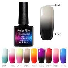 10ml Thermal Temperature Gel Nail Polish Color Change UV Gel Varnishes Lacquer Soak Off Polish Manicure Vernis Semi Permanent