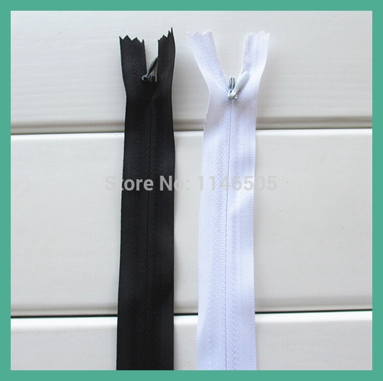 4 pcs/lot 150cm Cheap price <font><b>3</b></font># invisible zipper for Sewing Quilt accessories,<font><b>150</b></font> cm close end zipper mix White and Black image