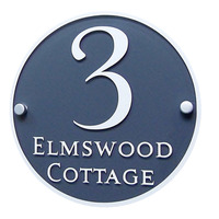 Customized House Sign Plaques Door Plates Clear Acrylic with Vinyl Decal Film Door Number/Street Name
