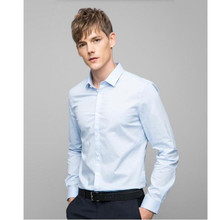 high quality custom New style Fashion Casual slim fit long-sleeved men's dress shirts formal styles leisure men party shirt