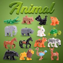 цены на Animal Series Model Figures Big Building Blocks Animals Educational Toys For Kids Children Gift Compatible With kids toys  в интернет-магазинах