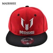 MAERSHEI 2018 alta calidad gorras de béisbol de niños niñas niños ajustar  fútbol Messi Snapback Hip Hop sombrero 46b73fb81e7