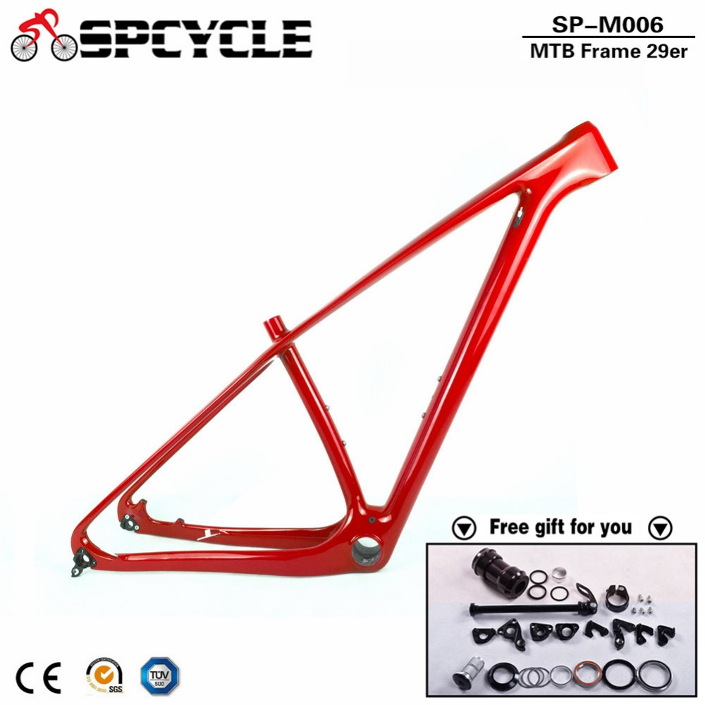 SmileTeam Brand New 29er Full Carbon MTB Frame 29ER 142*12mm Bike Frame Carbon 3K Matte Mountain Bike Frame 29er Bicycle Frame 17 inch mtb bike raw frame 26 aluminium alloy mountain bike frame bike suspension frame bicycle frame