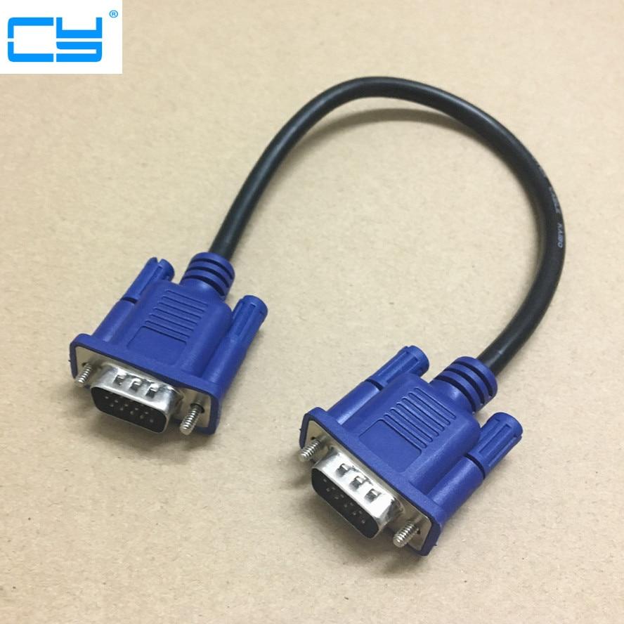 30cm 50cm Vga Cable Male To Malebraided Shielding High