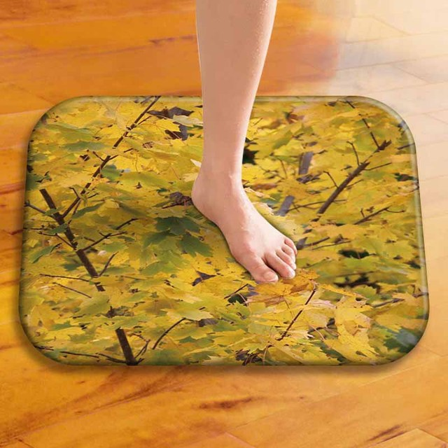 Fashion Style Abstract Print Carpets Anti Slip Floor Fatigue Mat Outdoor Rugs City Front Door