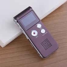 Mini USB Flash de Sonido de Audio Digital Grabadora de Voz 8 GB Hr Dictáfono Reproductor de MP3 Recargable Café Venta Caliente grabadora de voz