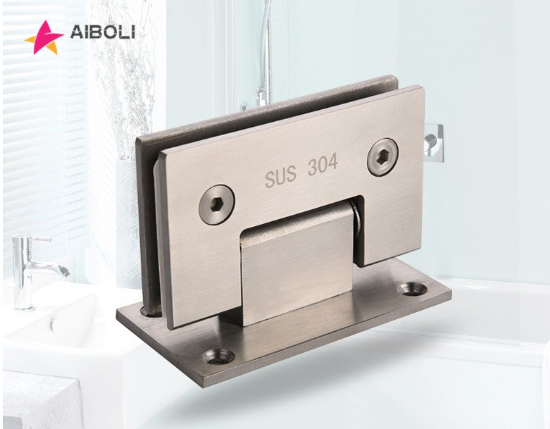 AIBOLI  2PCS 90 Degree 304 Stainless Steel Glass Door Hinge Door Hinges For Home BathroomAIBOLI  2PCS 90 Degree 304 Stainless Steel Glass Door Hinge Door Hinges For Home Bathroom
