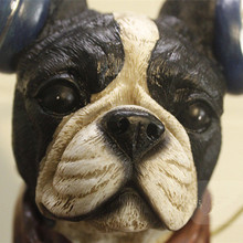 New Creative Personality American European interest Boston Terrier French Bulldog Headset Resin Dog Ornaments Best Gift