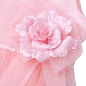 Image 5 - 2020 Girls Pleated Tulle Mesh Spaghetti Shoulder Straps Flower Girl Dress Princess Pageant Birthday Wedding Party Dress SZ 2 12