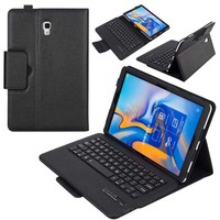 Wireless Bluetooth Keyboard for Samsung Galaxy Tab A 10.5 T590 T595 SM 590 PU Leather Stand Case Tablet Cover with Keyboard