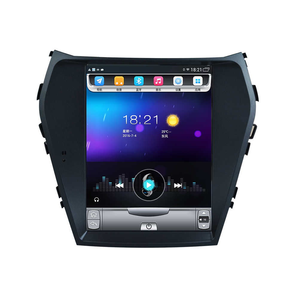 32G ROM Verticale screen android gps multimedia video radio in dash voor hyundai IX45 nieuwe satan fe auto navigatiesoftware stereo