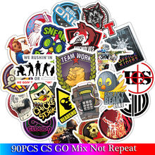 90 Pcs Pack cs go Stickers Set Funny Game Stickers For Kids Luggage Skateboard Laptop Notebook Toys Stickers(China)