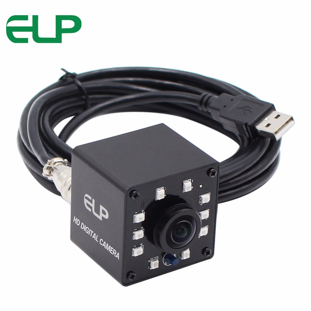 ELP Fisheye IR USB Camera 640*480P 10pcs IR LED IR CUT cmos OV7725 CCTV Video usb camera For machiney Kiosk ATM Bird Nest fubag компрессор air