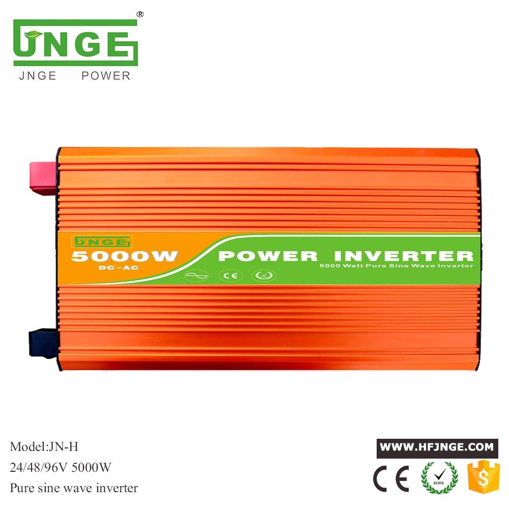 цена на 5000W 10000W peak DC 24V 48V 96V to AC 220/230/240V off grid pure sine wave solar inverter