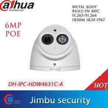 Dahua POE H.265 6MP Dome IPกล้องIPC HDW4631C A Built In MIC IR50m IP67 IK10 2.8มม.3.6มม.6มม.