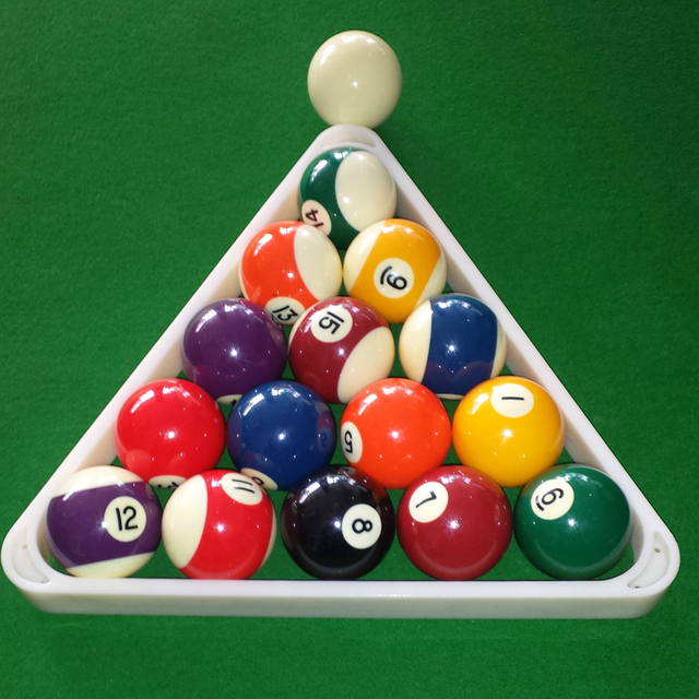 Plastic Ball Pool Billiard Table Rack Triangle Rack Standard Size - How to rack a pool table