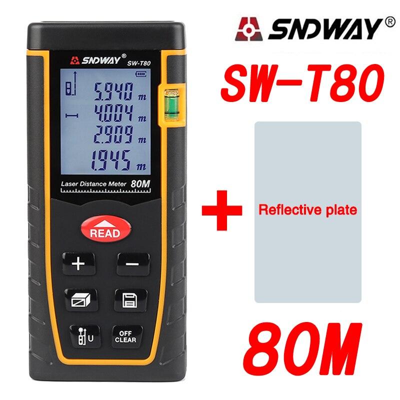 SNDWAY SW T80 Digital Laser Distance Meter Laser Rangefinder Range Finder Measure Tape Roulette Trena Diastimeter