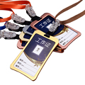 Metal Magnesium Alloy Bank Credit Card Holder case Badge holder Aluminum Neck Strap Bus Card ID holders lanyard Office Supplies