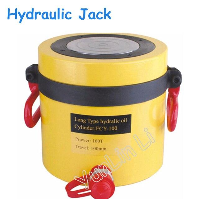 100T 100mm Stroke Hydraulic Jack Tipo Di Lunga Durata Hydraulic Jack, Idraulico Ram FCY-100