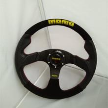 13 inch 14-inch matte leather carbon fiber racing steering wheel / momo steering wheel universal hot 2016