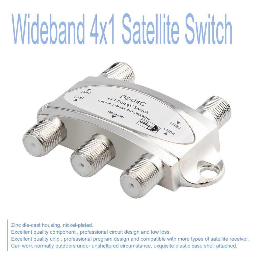 Высокое качество Бесплатная ТВ-выключатель DiSEqC 4x1 выключатель DiSEqC спутниковая антенна плоский LNB переключатель новейший ТВ-тюнер переключатель для ТВ-приемника