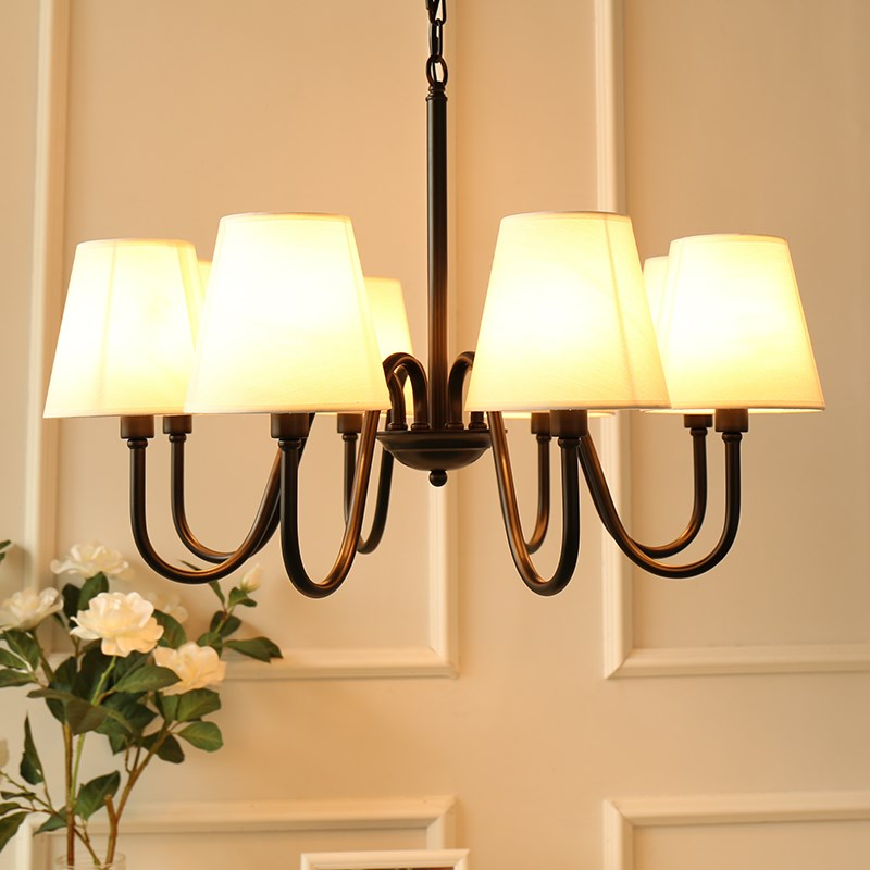American country wrought iron chandelier Nordic bedroom study restaurant living room lamp Simple European retro garden lamps american living room retro art chandelier nordic country antler chandelier clothing store villa candle lamp