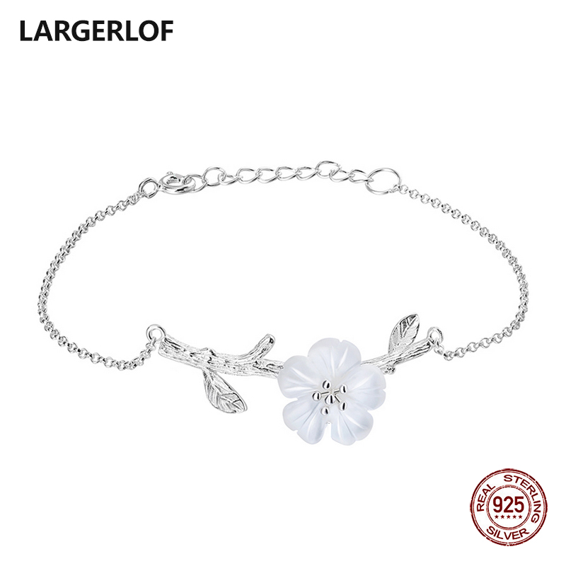LARGERLOF Real 925 Sterling silver Bracelets For Women Fashion Jewelry silver Bracelets 925 BR14056 2017 real 925 sterling silver