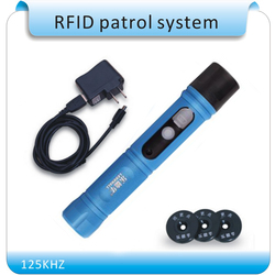 125KHZ impermeable IP67 Rugger RFID Guard sistema de patrulla, varita de patrulla de seguridad, dispositivo de recorrido de guardia con luz LED + 10 etiquetas