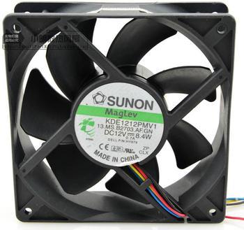 Free Shipping SUNON KDE1212PMV1 12038 DC 12v 0.7A 8.4W 12cm 4-pin PWM fan thermostat 120*120*38 mm
