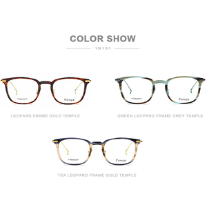 Image 5 - Fonex Titanium Acetaat Optische Brilmontuur Mannen Bijziendheid Recept Brillen Vrouwen Ultralight Transparante Eyewear 9131